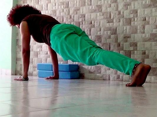 Setu asana (Plank pose)
