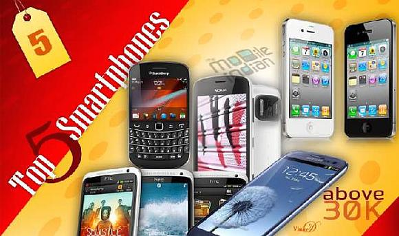 Best smartphones 2012 over Rs 30,000