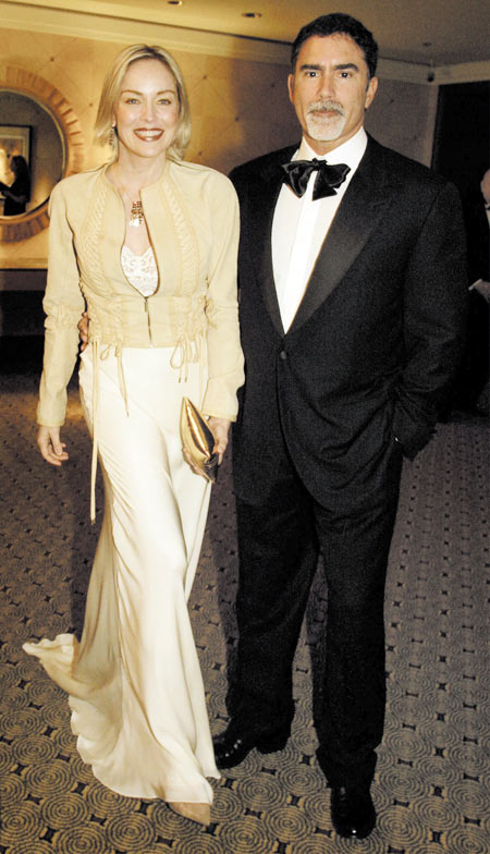 Sharon Stone and Phil Bronstein