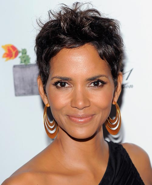 Going supershort like Halle Berry isn't going to improve the thickness of your hair