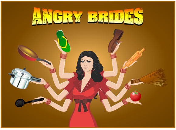 Forget Angry Birds. Now you can play Angry Brides