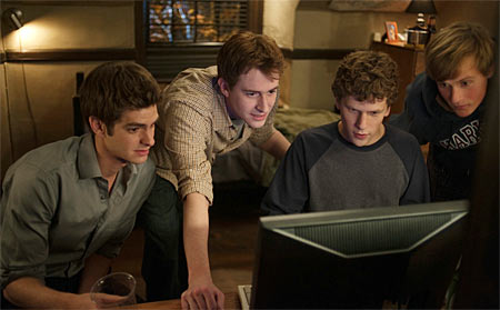 A still from the movie Social Network