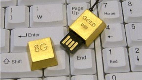 24K Gold USB Drive