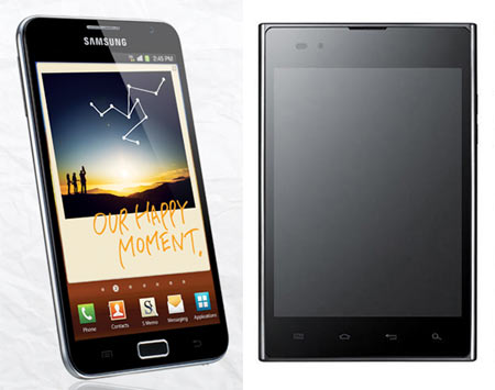 Smartphone war: LG Optimus Vu vs Samsung Galaxy Note