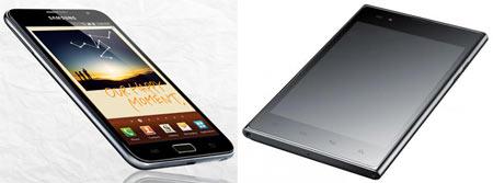 Smartphone war: LG Optimus Vu vs Samsung Galaxy Note