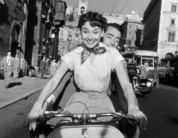 A still from the film Roman Holiday's starring