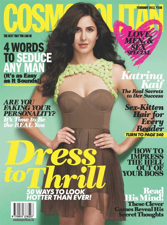 Katrina Kaif on the cover of Cosmopolitan India