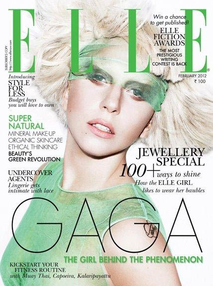 Lady Gaga on the cover of Elle India