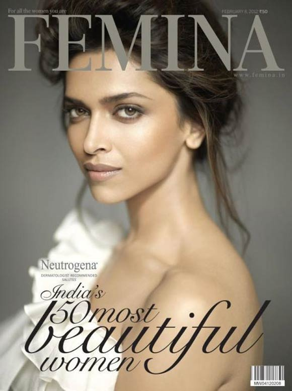Deepika Padukone on the cover of Femina