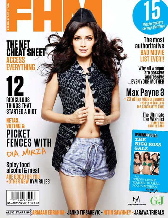 Dia Mirza on FHM India