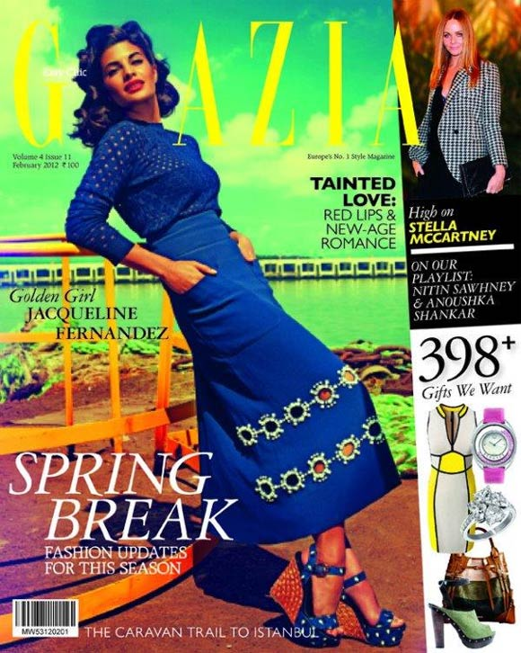 Jacqueline Fernandez on the cover of Grazia India