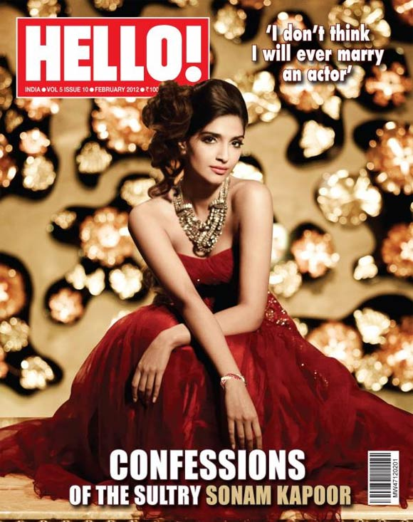 Sonam Kapoor on the cover of Hello India