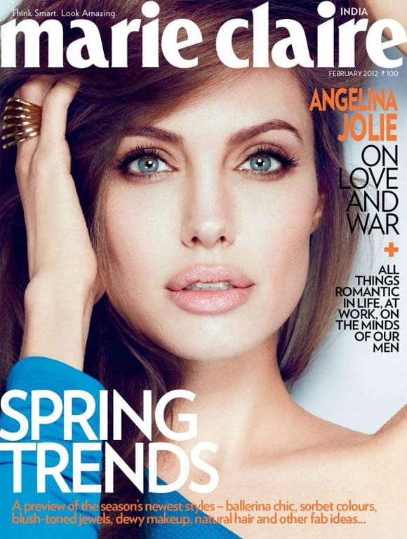 Angelina Jolie on Marie Claire India