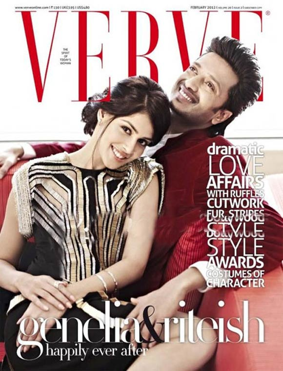 Genelia D'Souza & Riteish Deshmukh on the cover of Verve