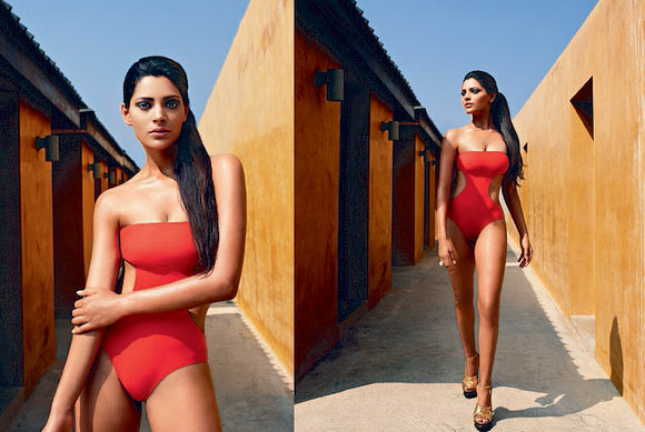 Saiyami Kher for Kingfisher Swimsuit Calendar