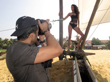 IN PICS: The making of the Kingfisher Swimsuit Calendar