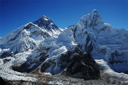 Mount Everest and Nuptse from Kalapatthar.