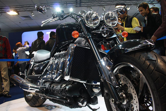 PHOTOS: Triumph's superbikes at Auto Expo 2012