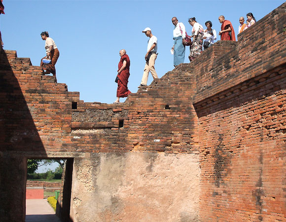 Tourists at Nalanda