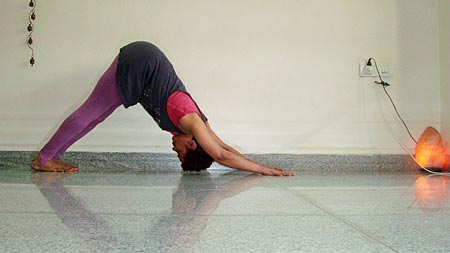 Adhomukhasvasana (Downward facing dog)