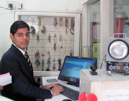 NDS student Sawan works in the security dept of Taj Palace