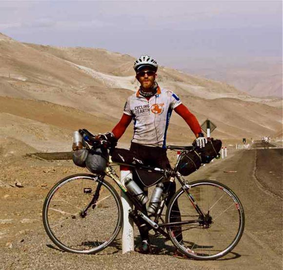 Sean in the Atacama desert in South America