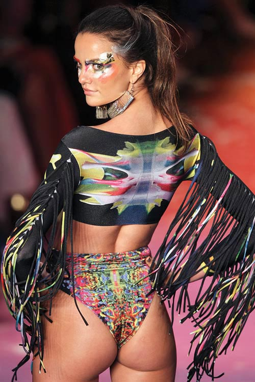 A model displays a swimwear creation at Fashion Rio Summer 2012-13 in Rio de Janeiro May 26, 2012