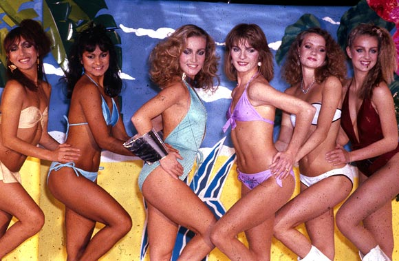 Dance group Legs & Co, a regular feature on BBC TV's 'Top Of The Pops' weekly pop music programme in the 1980s