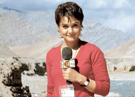 Preity Zinta's iconic short-haired do in Lakshya, styled by Adhuna Akhtar