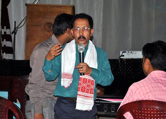 Uddhab Bharali addresses a seminar on innovation and intellectual property in Guwahati