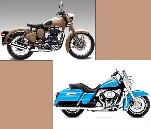 The AMAZING stories of Harley Davidson and Royal Enfield