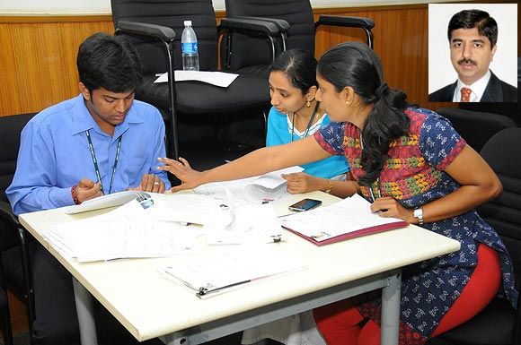 IIT graduates induction programme in Chennai, Tamil Nadu and (inset) Shankar