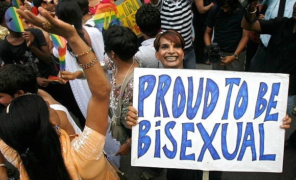 Gay rights activists dance at the 'Queer Pride March' in New Delhi June 29, 2008