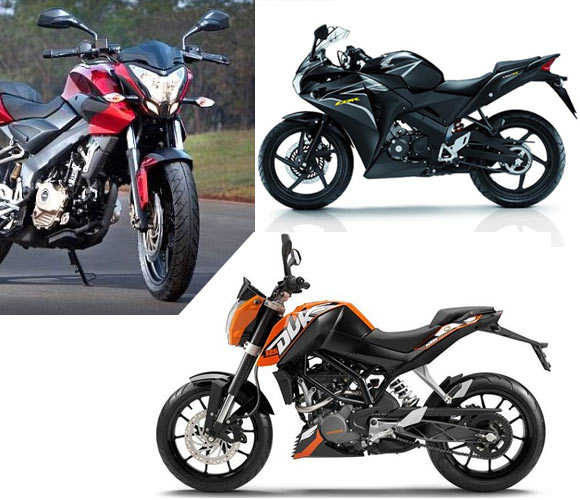 Pulsar 200NS takes on KTM and Honda CBR