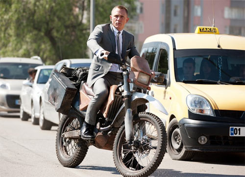 IN PICS: James Bond's sexy new bike
