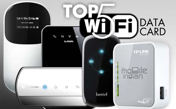 Top 5 pocket Wi-Fi data cards