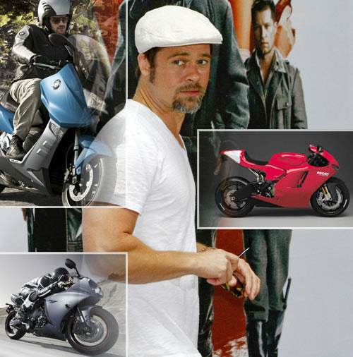 IN PICS: The supersexy bikes of Brad Pitt