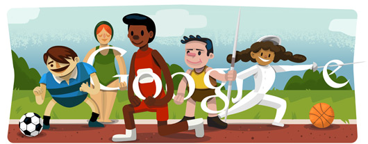 Opening ceremony London 2012 celebrated with a doodle!