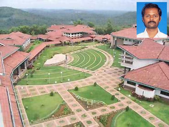 IIM Kozhikode Campus; Inset: Prof SSS Kumar
