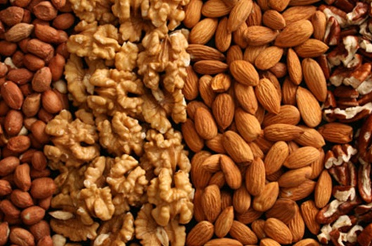 Among other foods nuts are a rich source for Zinc