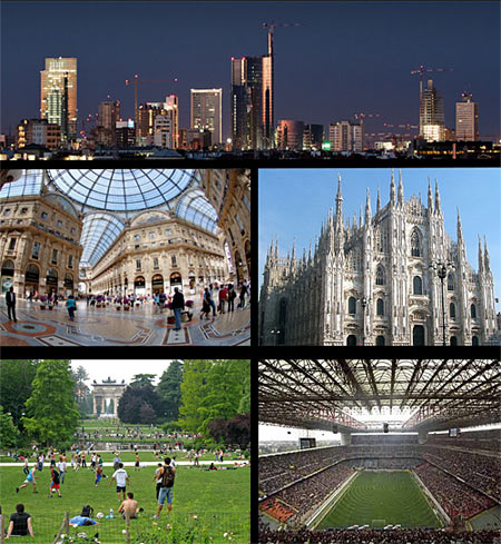 Collage of Milan City