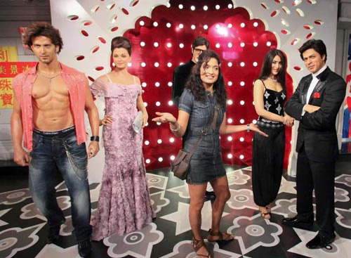 Sandya gets a dose of wax at Madame Tussauds