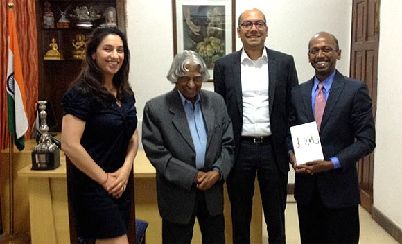 The authors with former President of India Dr APJ Abdul Kalam