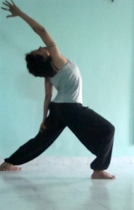 Virabhadrasana (Warrior pose, variation)