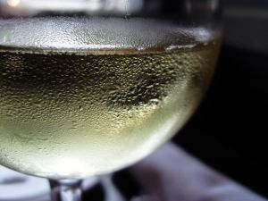8. Drinking white wine