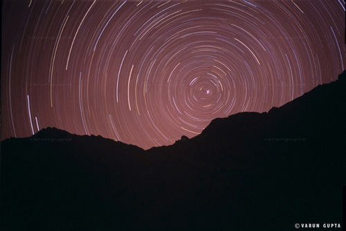 Star trails over Rangdum