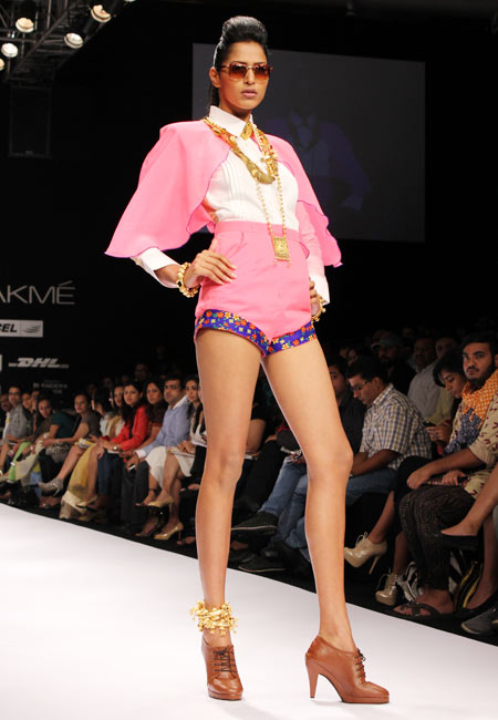 A model shows a Tanya Sharma collection