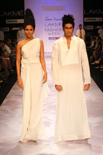 A model shows off a James Ferreira collection