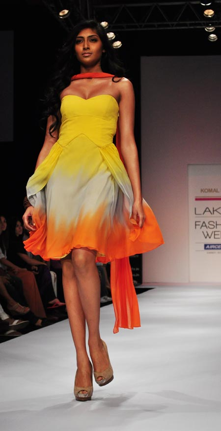 A model in a Komal Sood creation