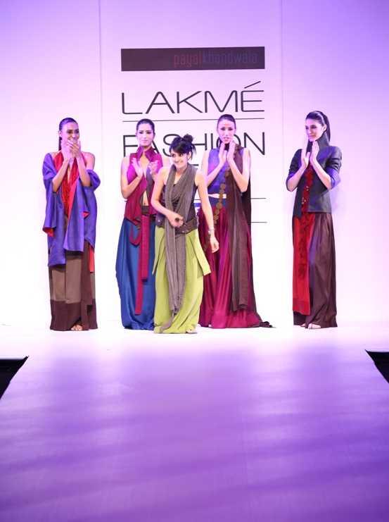 A model presents a Payal Khandwala creation